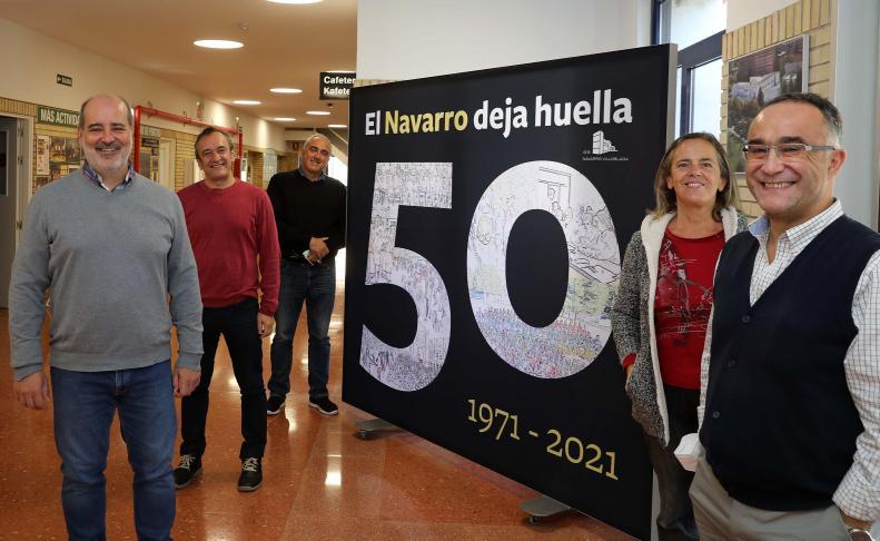 Equipo directivo del Navarro Villoslada en 2021