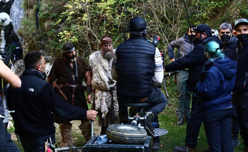 Rodaje de la película 'Irati', de Paul Urkijo, en el Pirineo 'protonavarro'