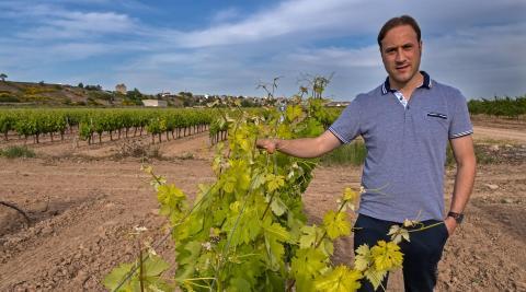 Jorge González, representante de los viticultores navarros en la DOC Rioja