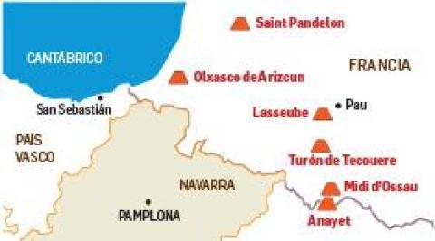 Volcanes cercanos a Navarra