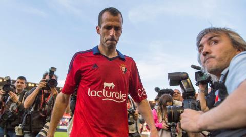 Su último partido con Osasuna en 2014