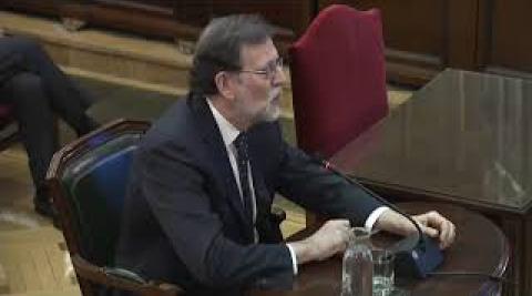 Mariano Rajoy declara en el juicio del Procés