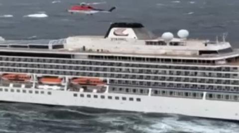 Complicado rescate de los 1.300 pasajeros de un crucero en Noruega