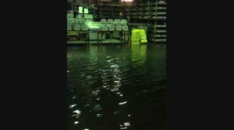 Inundado el interior de la fábrica Fagor Ederlan en Tafalla