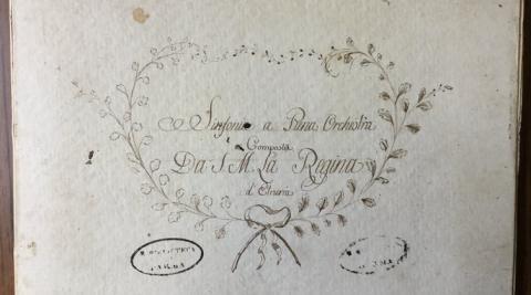 Portada de la Sinfonía a piena orchestra (María Luisa de Borbón – Reina de Etruria)