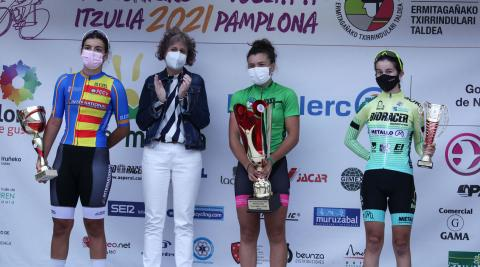 Podio final de la Vuelta a Pamplona júnior
