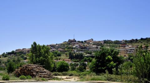 Vista panorámica de Pueyo, en la Valdorba