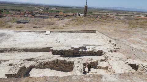 Imagen de las tres estancias descubiertas en las excavaciones en el yacimiento del Castillo de Valtierra
