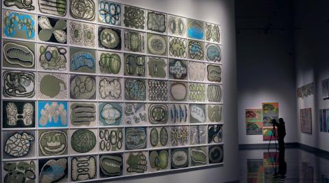 Exposición de Luis Gordillo en el Museo Universidad de Navarra, que se puede visitar hasta el 12 de septiembre