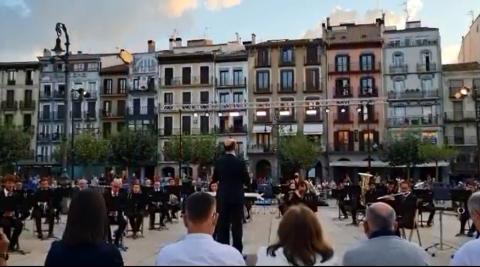 Concierto de La Pamplonesa en la Plaza del Castillo