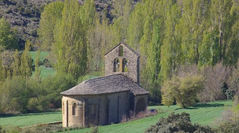 La ermita se encuentra en el término de Garinoain, en la Valdorba.