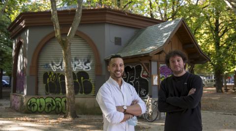 Jorge García y Javier Arriazu,  hosteleros que van a tomar las riendas del bar Bosquecillo