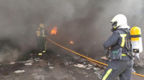 Incendio en las naves de Onena de Ibiricu