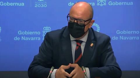 Rueda de prensa íntegra del consejero de Educación del Gobierno de Navarra, Carlos Gimeno.