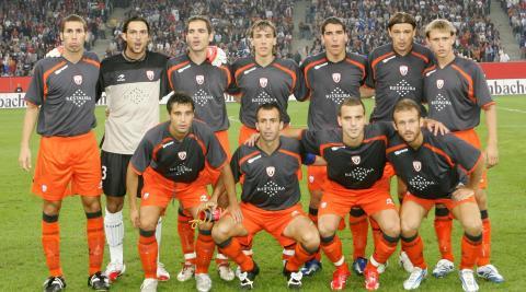 Con el equipo que jugó la previa de la Champions en Hamburgo