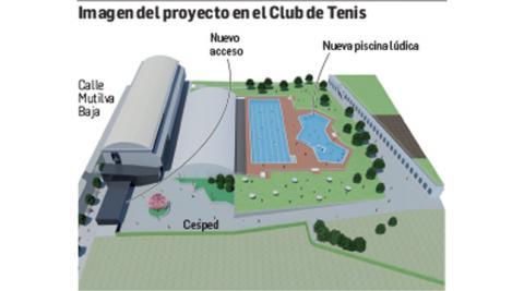 Plano del proyecto del Club Tenis Pamplon