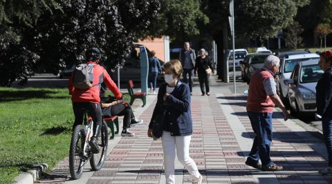Las aceras siguen siendo 'salvavidas' de muchos ciclistas