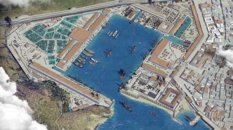 El arsenal de Cartagena a finales del siglo XVIII, en 3D