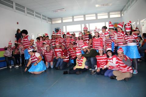 Imágenes de carnaval en los colegios navarros. Disfraces de los alumnos de los colegios Elorri de Mendillorri (Pamplona), San Juan de la Cadena (Pamplona), CP Iturrama (Pamplona), CP Griseras (Tudela) y Colegio de Educación Especial Isterria (Ibero).