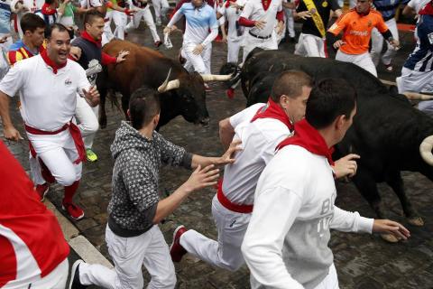 Imágenes exclusivas del séptimo encierro de los fotógrafos de Diario de Navarra.
