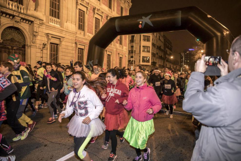 Consulta las mejores fotos de la San Silvestre en Pamplona de 2016.