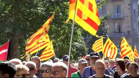 Manifestación en San Sebastián en apoyo al referéndum en Cataluña