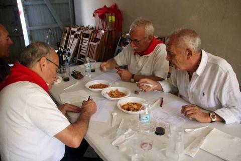 Concurso de ajoarriero en las fiestas de Milagro 2017