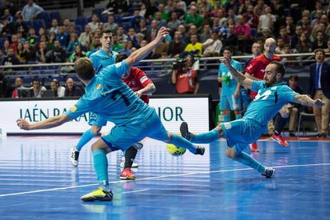 Osasuna Magna no pudo y cayó por la mínima, 2-1, contra el favorito Inter Movistar en cuartos de final de la Copa de España 2018 disputados en el Wizink Center de Madrid