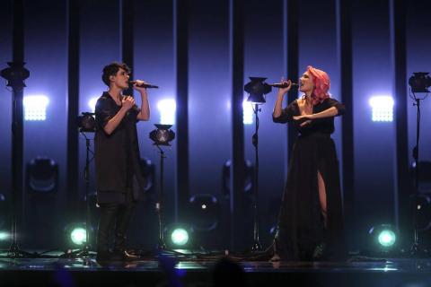Los 26 países participantes actuaron en el Altice Arena de Lisboa en la final del festival musical en el que participó la navarra Amaia Romero junto a Alfred García.