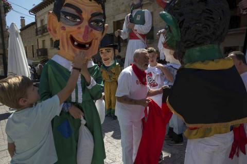 Imágenes del comienzo de las fiestas de Olazagutía