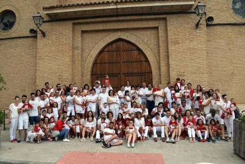 Fotos del cohete de las fiestas de San Roque en Murchante.