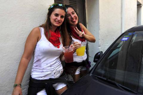 Fotos del cohete de fiestas de Marcilla