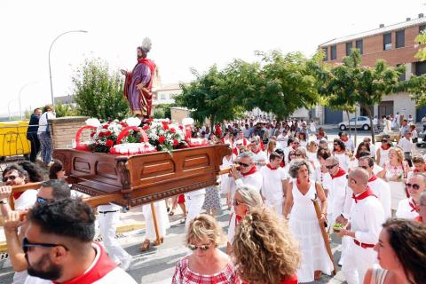 Imágenes del día de San Bartolomé en las fiestas de Ribaforada 2018, 24 de agosto
