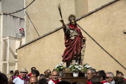 Fotos de la procesión en el Día de Santa Fe de las fiestas de Caparroso 2018, 2 de septiembre