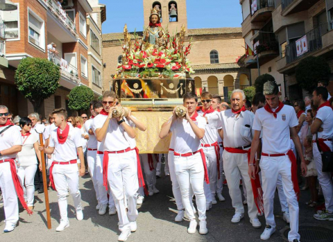Los azagreses vivieron este sábado, 8 de septiembre su segundo día de fiestas, en honor a la Virgen del Olmo
