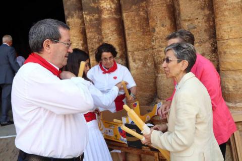 Fitero homenajea a su patrona, la Virgen de la Barda, con misa y procesión durante sus fiestas