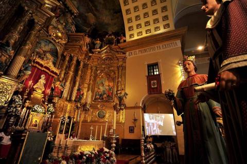 Despedida de gigantes, misa y encierro para poner fin a las fiestas patronales de Peralta