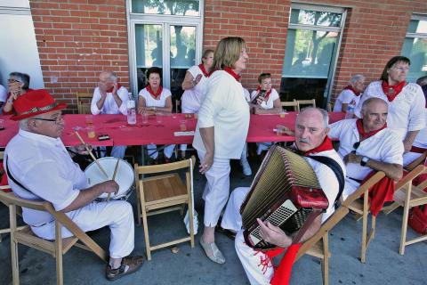 Inicio de las fiestas en la localidadnavarra