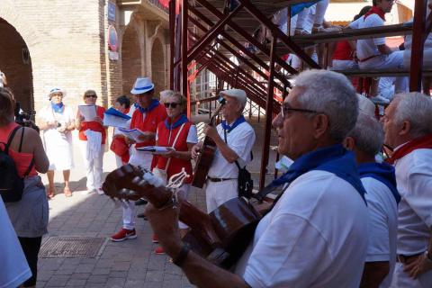 Imágenes del día del entreverao en las fiestas de Villafranca.