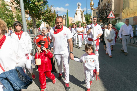 Fotos de la procesión de la Merced y la proclamación del 'corellano popular' de las fiestas de Corella 2018, 24 de septiembre.