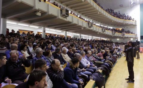 Imágenes del partido entre Ezkurdia-Galarza y Olaizola-Albisu