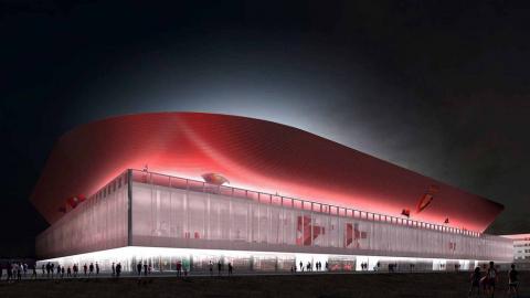 Imágenes del proyecto Muro Rojo, que llevará a cabo la reforma del nuevo Sadar.