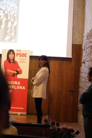 Las candidatas María Chivite y Maite Esporrín protagonizaron el acto de presentación de candidaturas a las elecciones autonómicas y municipales de 2019.