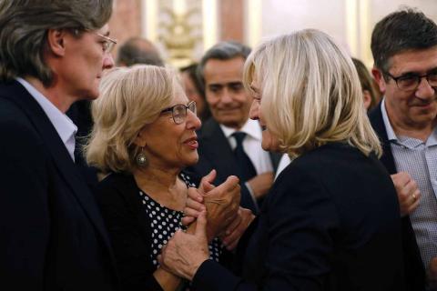Fotos de la capilla ardiente de Alfredo Pérez Rubalcaba, celebrada este viernes en el Congreso de los Diputados