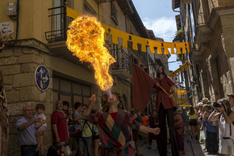 Todas las fotos del inicio de las fiestas medievales de Olite