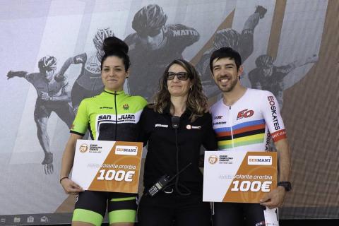 Fotos de la llegada y el podio del Pamplona-Puente la Reina Skate Marathon (P2P)