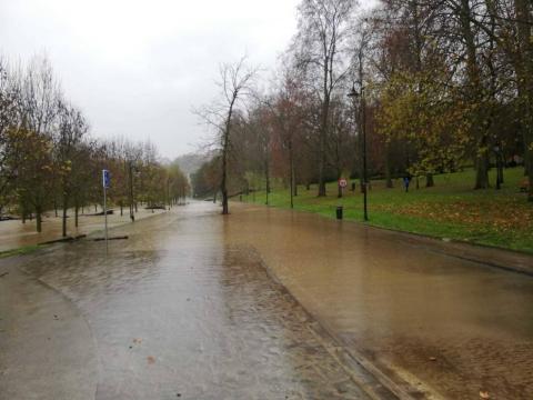 Fotos enviadas por los lectores de Diario de Navarra de las inundaciones de este viernes en Navarra.