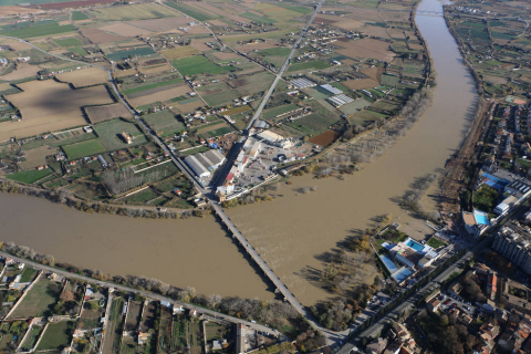 Imágenes de las inundaciones en Navarra por el temporal de lluvia