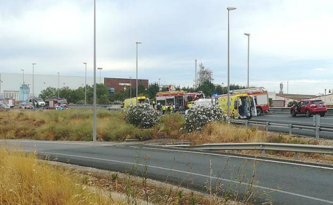 Accidente de tráfico en la N-232 en Alfaro