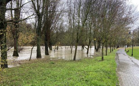 Sigue la vigilancia en los ríos de Navarra a la espera de nuevas crecidas